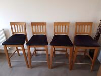 4 x bar stools with backs!