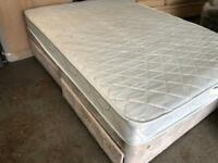DOUBLE DIVAN BED BASE WITH DRAWERS + MATTRESS
