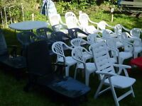 Garden Seats . chairs. New and Clean Some never been used from £2 each