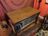 Solid wood desk/table.