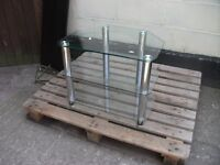 TV cabinet glass small delivery available £10