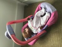 Girls Toys. Baby born with car seat and clothes.
