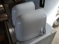 wall hung basin with semi-pedastal