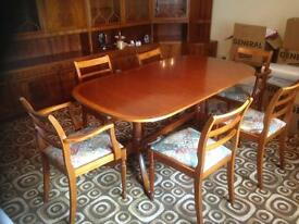 Dining room table and chairs / cabinet unit