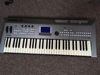 Yamaha MM6 keyboard/synthesiser with stand and sustain pedal