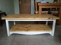 Annie Sloan painted and waxed solid pine coffee table