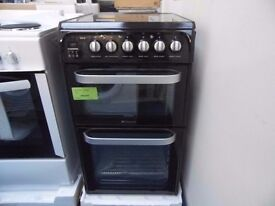 EX-DISPLAY BLACK HOTPOINT 50 WIDE COOKER OVER 30% OFF RRP REF: 11656
