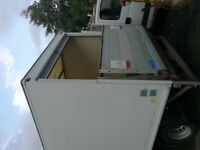 Lorry Luton box body with roller rear door and tail lift.