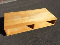 TV stand/shelf - Solid wood pine effect