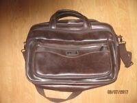 Ariana Brief Case/College bag. Colour brown.