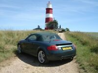 2001 Audi TT Quatro in Green with matching colour hood