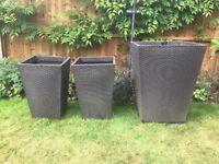 Garden pots Rattan effect