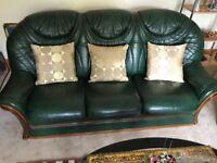 3 piece leather suite mint condition