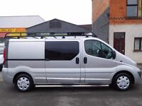 NO VAT! Vauxhall Vivaro LWB 2.0CDTi sportive 6 seat factory fitted crew cab van (9)