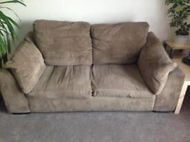 Brown Cord 2seater Sofabed