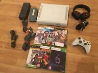 60gb XBOX 360 CONSOLE with 6 GAMES & GAMING HEADSET £35 no offers