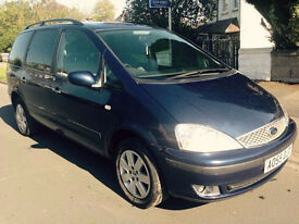 1 OWNER 06' FORD GALAXY ZETEC 1.9 TDDI ALLOYS 7 SEATER DIESEL FSH 19 DEALER STAMPS, 12M MOT TOURAN