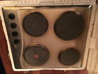 Unused four ring stainless steel electric hob