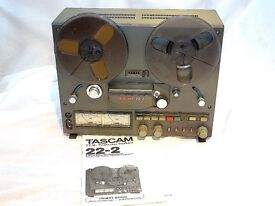 "TASCAM 22-2 1/4"" REEL TO REEL. VGC - BEAUTIFUL EXAMPLE - SERVICED - MANUAL - BOXED. £425 ono."