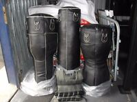 Black Leather Punchbags
