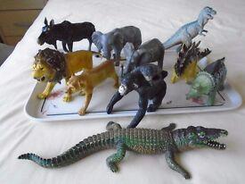 ELC mixed lot of zoo & farm animals & dinosaurs