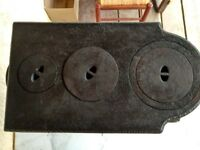 French 19th Century Cast Iron Small Oven Stove/Wood or Coal