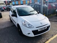 RENAULT CLIO 1.2 EXTREME PETROL MANUAL WHITE 2010 60000 MILES SERVICE HISTORY 3 DOORS