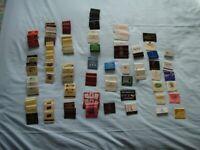 UK MATCHBOXES and MATCHBOOKS.