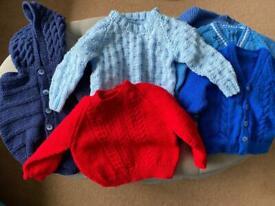 3-6 Knitted cardigan bundle