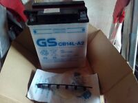 Motorbike battery unused GS CB14L-A2