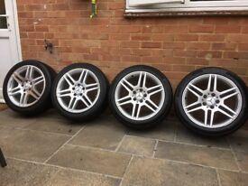 Mercedes C Class, Genuine AMG alloy wheels.