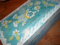 Selection of storage card board decorated box ideal for filling with gifts each box different