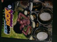Rock drum beat lesson book with cds