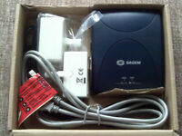 SAGEM ADSL MODEM WITH 2 FILTERS, USB CABLE, CD ROM WITH INSTRUCTIONS