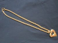 """Chanel rare gold effect vintage (90s) pendant IMMACULATE approx 32"""" chain"""