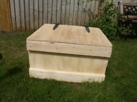 Wooden Storage box with hinged lid