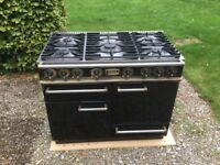Falcon Professional Dual Fuel Range with 5 burner gas hob, electric grill, 2 ovens & warming drawer
