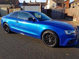 Audi A5 2.0 TDI S Line Black Edition Plus 2015 Blue Coupe