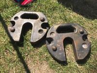 Gazebo weightsx2 cast iron
