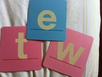 Sandpaper letters – teaching aid