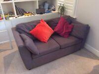 Charcoal 2/3 seater sofa