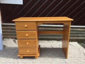 Brand New Sol Solid Wood Antique Pine 4 Drawer Dressing Table