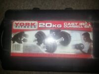 York Fitness 20kg Dumbell Set
