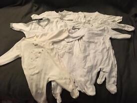 Bundle of sleep suits 0-3 months
