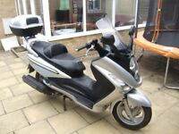 2006 SYM GTS250. MOT UNTIL 23 MARCH 2019. GOOD CONDITION