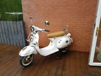 Lexmoto 50cc white scooter