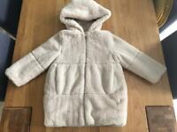 Girls winter fur coat