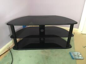 TV Stand. Black with black uprights