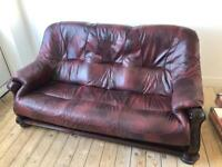 Leather sofa and two chaire
