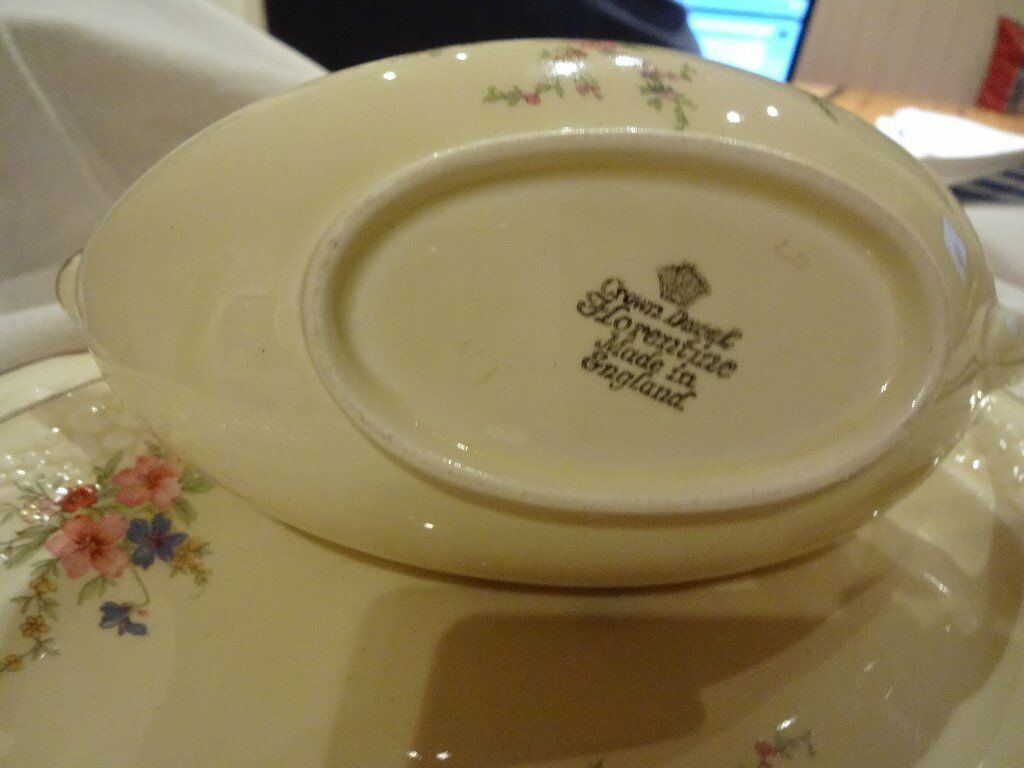 Vintage English China Crown Ducal Florentine 'Marie' 1930s cottage chic design